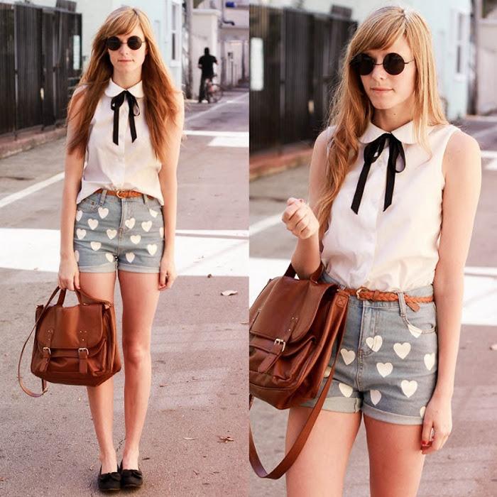shorts corazones