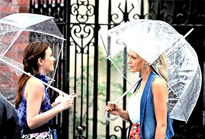 gossip girl paraguas transparente