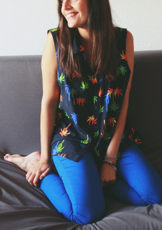 1 blusa asos palmeras