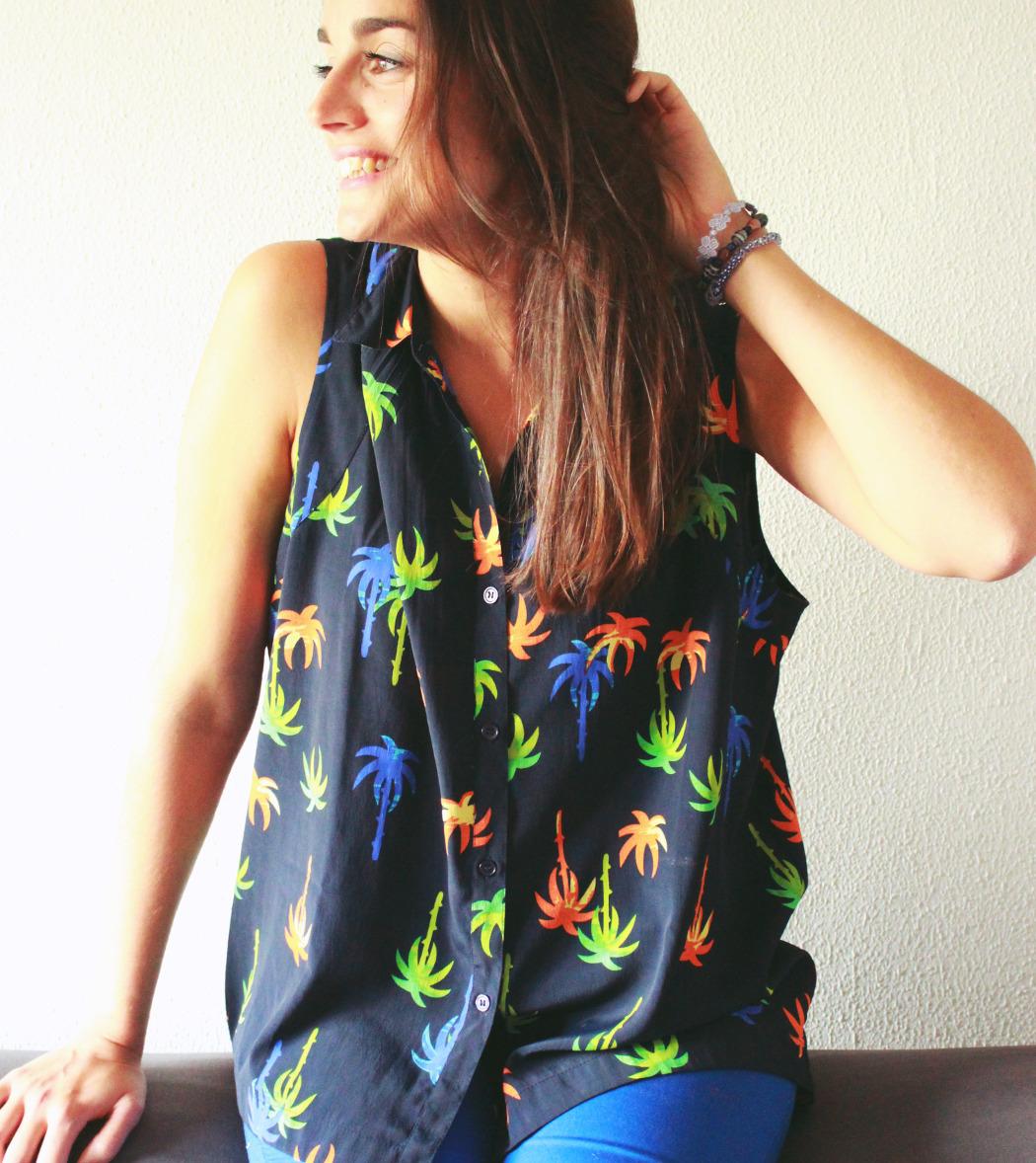 7 blusa asos palmeras